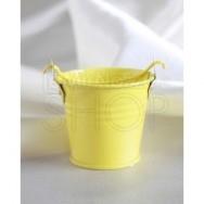 Secchiello porta confetti giallo