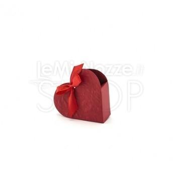 Scatola a forma di cuore rossa 10 pezzi