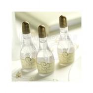 Bolle di sapone a forma di bottiglia di champagne oro 24 pezzi
