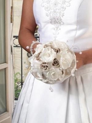 Bouquet rose avorio