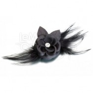 Clip per capelli black flower