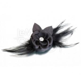 Clip per capelli black flower