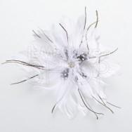 Clip per capelli serie fiore bianco
