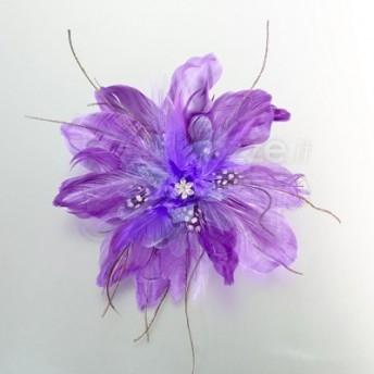 Clip per capelli fiore viola