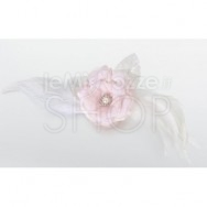 Clip per capelli con fiore rosa