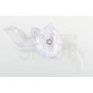 Clip con fiore bianco per capelli