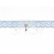 Giarrettiera Blu con chiave d'amiore