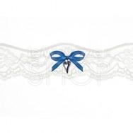 Giarrettiera Fiocco Blu con Cuore