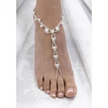 Set 2 pezzi perle e strass - gioielli per i piedi