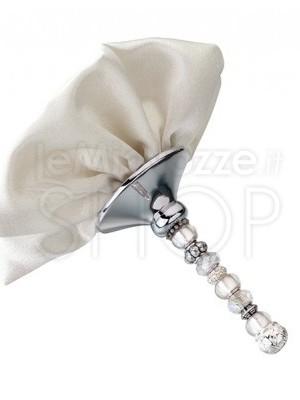 Supporto bouquet perle e avorio