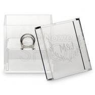 Box porta fedi trasparente stile country personalizzato