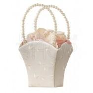 Cestino porta petali con perle e fiori