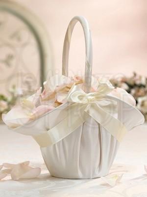 Cestino porta petali romantico avorio