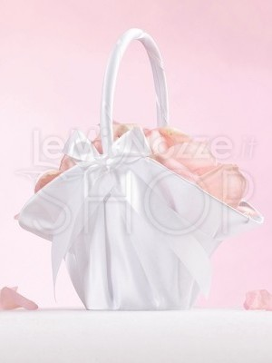 Cestino porta petali romantico bianco