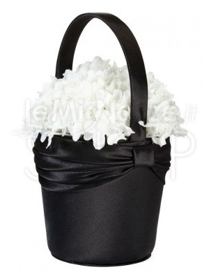 Cestino porta petali nero