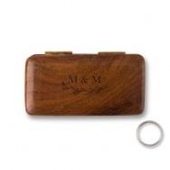 Cofanetto porta fedi personalizzato in legno