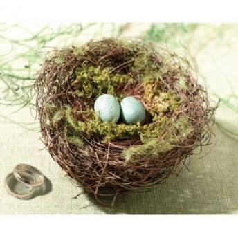 Cuscino porta fedi a forma di nido di uccellini