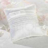 Cuscino porta fedi con fiocco bianco