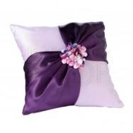 Cuscino portafedi lilla con strass