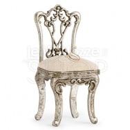 Portafedi argentato a forma di sedia classica