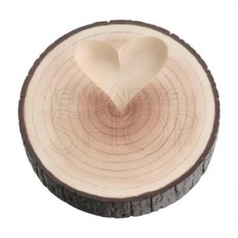 Porta fedi a forma di tronco di albero con cuore