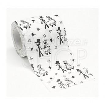 Rotolo di carta igienica con disegno sposi