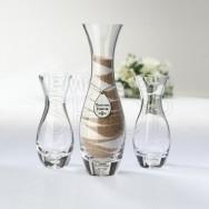 Set 3 vasi eleganti rito della sabbia