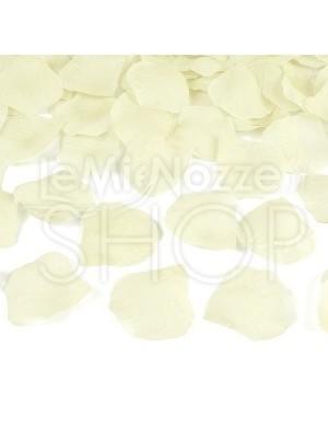 Petali in tessuto di colore avorio/crema 100 pezzi