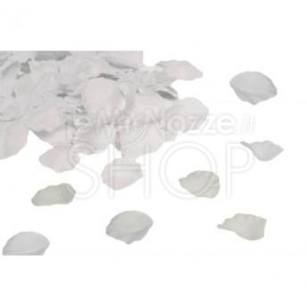 Petali in tessuto di colore bianco 100 pezzi