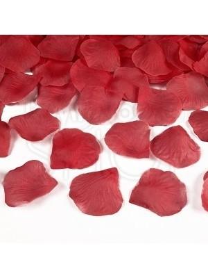 Petali in tessuto di colore rosso 100 pezzi