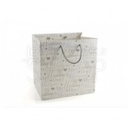 Wedding bag bianca con scritta Wedding Day 12 pezzi