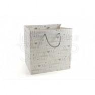 Wedding bag bianca con scritta Wedding Day 12 pezzi
