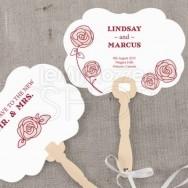 24 pezzi ventagli personalizzabili con rose