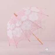 Ombrello rosa in pizzo