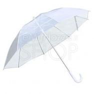 Ombrello da sposa bianco trasparente