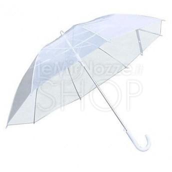 798f8b1be887 Ombrello da Sposa Bianco Trasparente