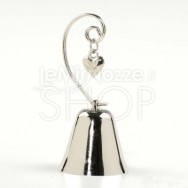 Campanella tirabaci con cuore in metallo 4 pezzi
