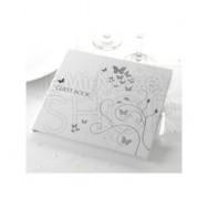 Guestbook con farfalle colore argento