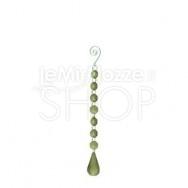 Catena di diamanti decorativi verdi con prisma - 25 cm