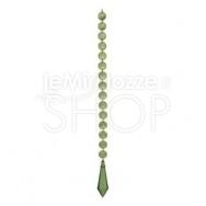 Catena di diamanti decorativi verdi con prisma - 50 cm