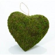Decorazione a forma di cuore effetto muschio