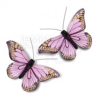 Farfalle decorative lavanda 12 pezzi