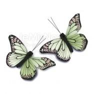 Farfalle decorative verdi 12 pezzi