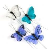Farfalle decorative blu 25 pezzi
