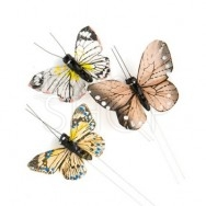 Farfalle decorative marroni 25 pezzi