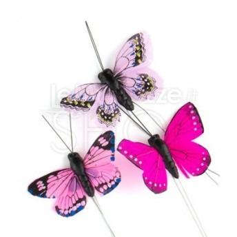 Farfalle decorative 25 pezzi rosa