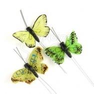 Farfalle decorative 25 pezzi verdi