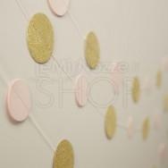 Ghirlanda con cerchi gold