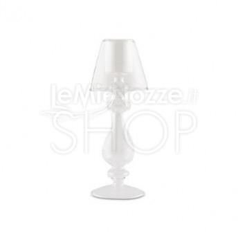 Lampada porta candela in vetro soffiato misura media