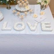 Set 4 piatti scritta Love